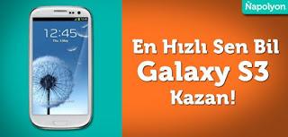 En Hızlı Sen Bil, Galaxy S3'ü Sen Kazan