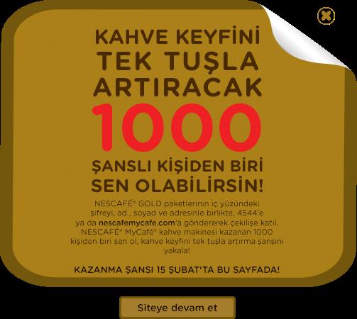 Néscafe Gold'dan 1000 Adet Kahve Makinesi Hediye