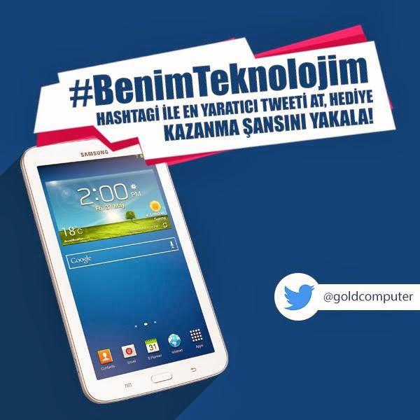 Samsung Tab 3 Hediyeli Twitter Yarışması Katılım Koşulları