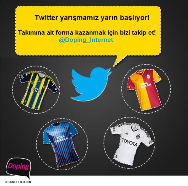 Doping İnternet Twitter Yarışması