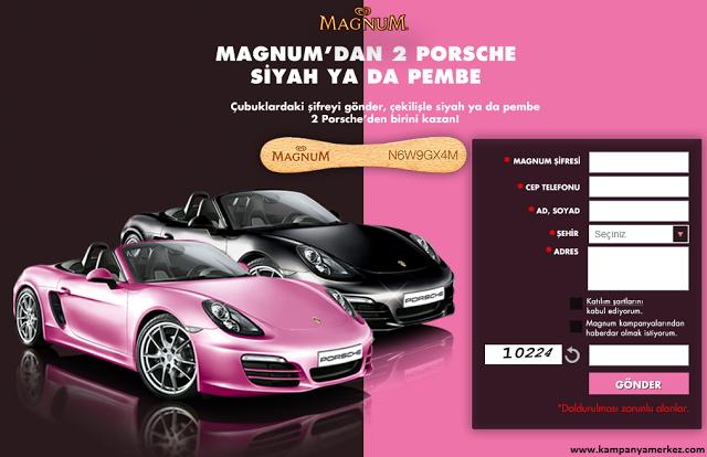Magnum'dan Siyah ya da Pembe Porsche Çekilişi Görseli