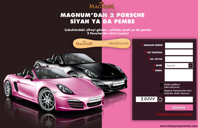 Magnum'dan Siyah ya da Pembe Porsche Çekilişi