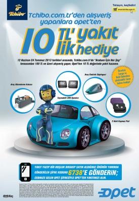 Tchibo.com.tr'den alışveriş yapanlara Opet'ten 10 TL'lik yakıt hediye!