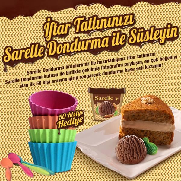 İftar Tatlınızı Saralle Dondurma ile Süsleyin