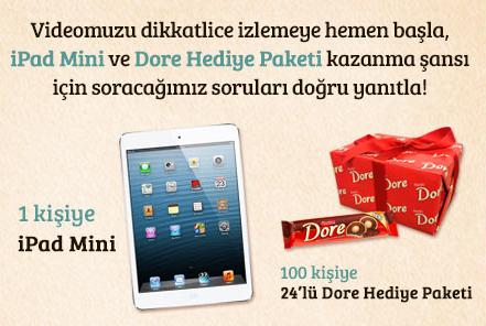 Ülker Dore'den 1 Kişiye iPad 100 Kişiye Dore Hediye Paketi