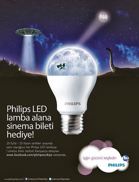 Philips Led Lamba Alana Sinema Bileti Hediye