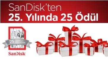 SanDisk 25. Yılını Hediyelerle Kutluyor!