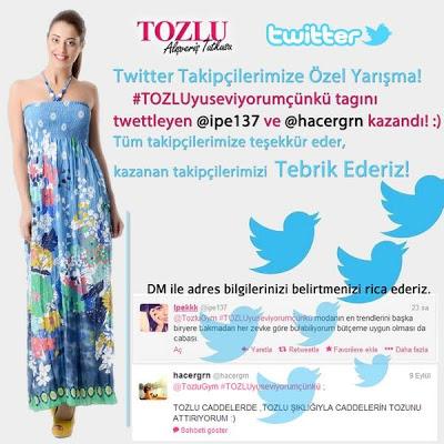 Tozlu Giyim Twitter Kampanyası Sonucu ( Kazanan )
