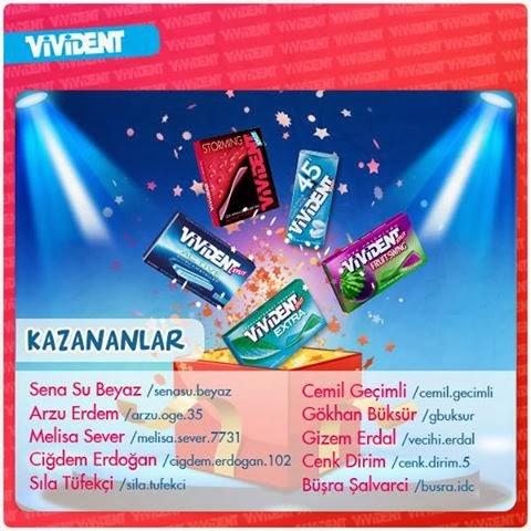Vivident Kampanya Kazanları, tebrikler.