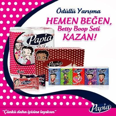 Papia'dan Betty Boop Seti Hediyeli Kampanya