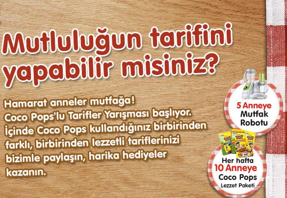 Coco Pops Kampanyasına Katılmak İçin, Tıklayınız.