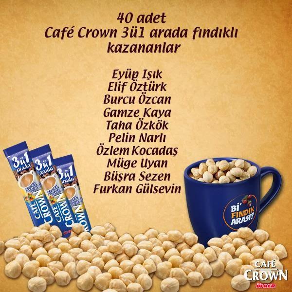 Café Crown'dan Hediye Kazanan 10 Katılımcı