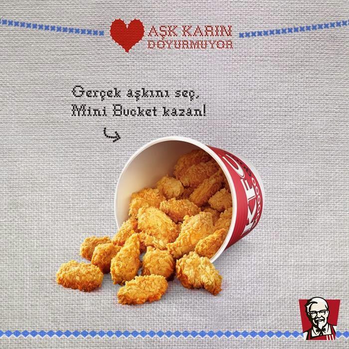 KFC'den 'Aşk Karın Doyurmuyor' Kampanyası