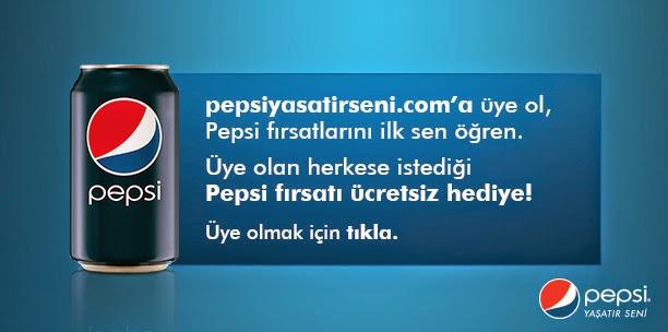 Pepsi'den Üye Olan Herkese 1 Kod Hediye