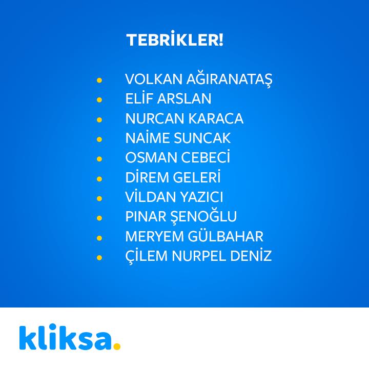 Kliksa'dan Fırsat Üstüne Fırsat Kazananları