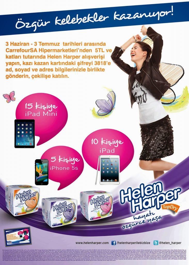 Helen harper CarrefourSa kampanya görseli.