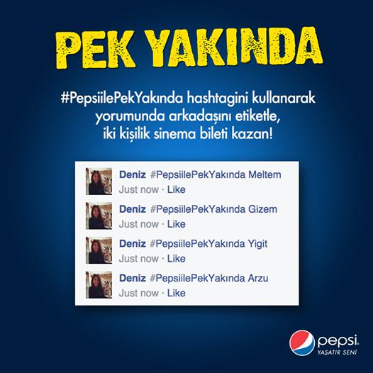 Pepsi'den 50 Kişiye Çift Kişilik Sinema Bileti Hediye