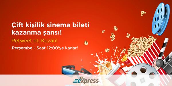 BKM Express'ten Sinema Bileti Hediye