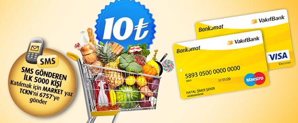 VakıfBank Bankomat Kart 10 TL Hediye Kampanyası