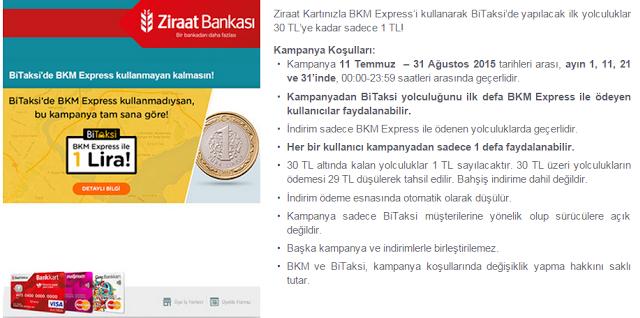Ziraat Bankası'ndan Taksi Kampanyası Detayları.