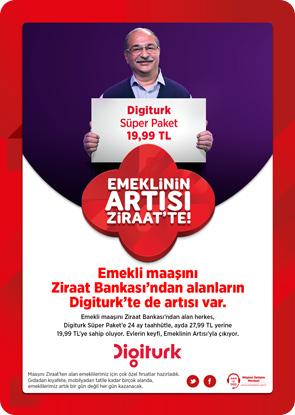 Ziraat Bankasından Emekliye Digiturk Kampanyası