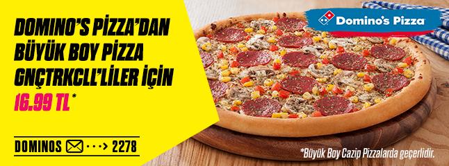 Gnctrkcll, Domino's Pizza'da Büyük İndirim Sağlıyor