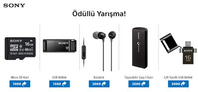 Sony, 5 Farklı Ürün Hediye Ediyor