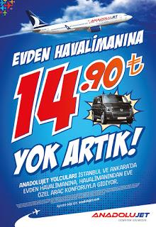 AnadoluJet'ten Görülmemiş Servis Kampanyası