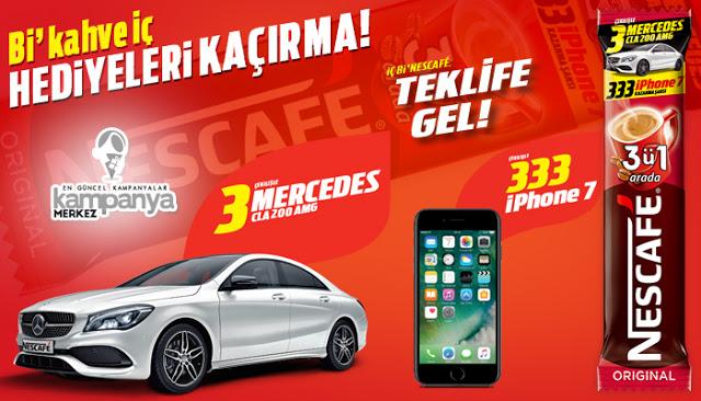 NESCAFE, 3 Mercedes, 333 iPhone 7 Dağıtıyor!