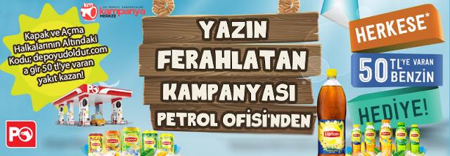 Liptondan Petrol Ofisinde Ücretsiz Yakıt Kazanın!