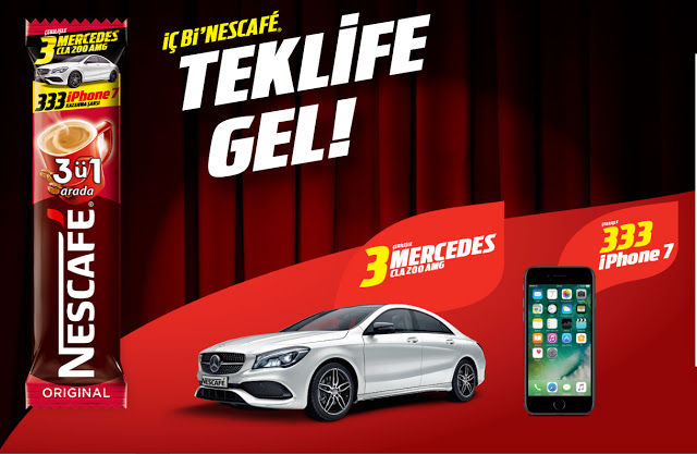 Nescafe BMW ve iPhone 8 çekilişi 2018