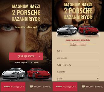 Magnum ve Magnum Mini ile 2 Porsche kazanma fırsatı