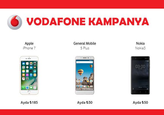 Vodafone faturalı hattınız üzerine taksitli akıllı telefon kampanyası