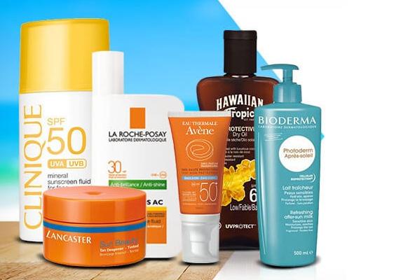 Güneş kremi ve diğer kozmetik ürünlerde indirimli fiyatlar