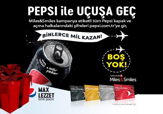 Pepsi Miles Smiles Kampanyası ile uçuşa geç