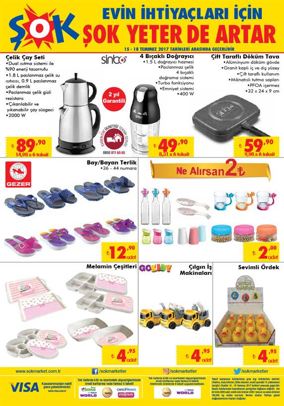 Şok market 15 Temmuz – 18 Temmuz Haftasonu aktüel Ürünleri