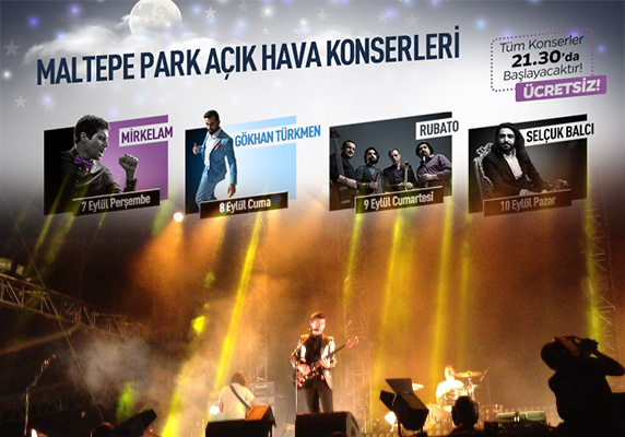 Mirkelam konseri, Gökhan Türkmen konseri, Rubato konseri, İstanbul konserleri, Selçuk Balcı konseri, ücretsiz İstanbul konseri