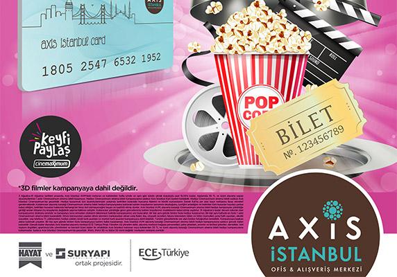 Axis İstanbul sinema bileti hediye ediyor