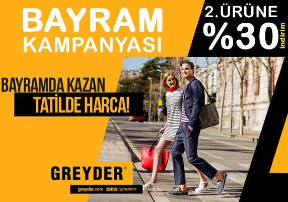 Greyder ayakkabılarda bayram kampanyası: 2. Ürüne yüzde 30 indirim