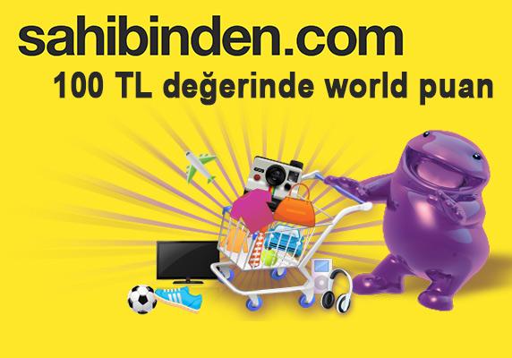Sahibinden.com alışverişlerinizde 100 TL para puan kazanın