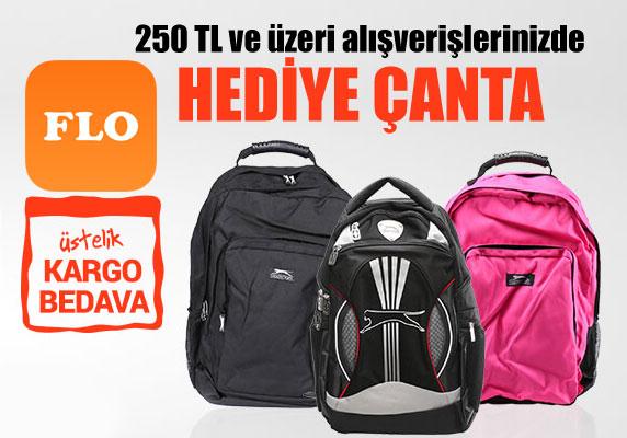 FLO'dan alışverişlerinize sırt çantası hediye kampanyası