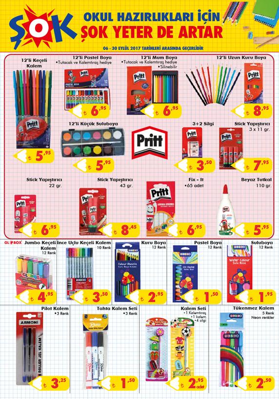 şok market okul eşyaları 2017, ŞOK market aktüel okul malzemeleri, okul malzemeleri kataloğu 2017