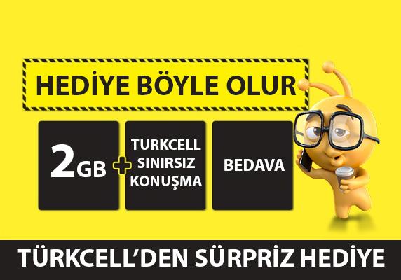 Turkcell 2 GB internet ve sınırsız konuşma bedava kampanyası