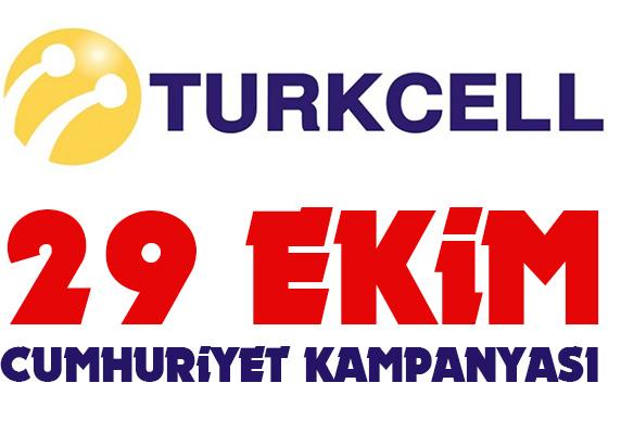 Turkcell 29 Ekim Cumhuriyet bayramı hediye kampanyası