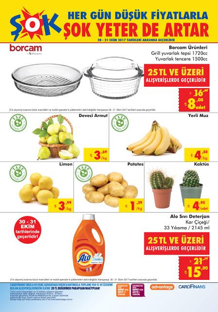 Şok Markette haftasonu indirimli ürünler kataloğu