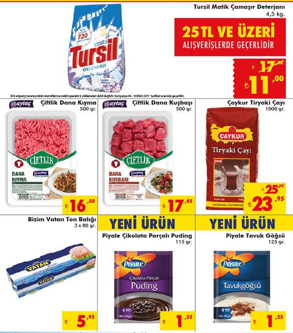 Şok Market 4 Ekim aktüel ürünler kataloğunda hangi ürünler var
