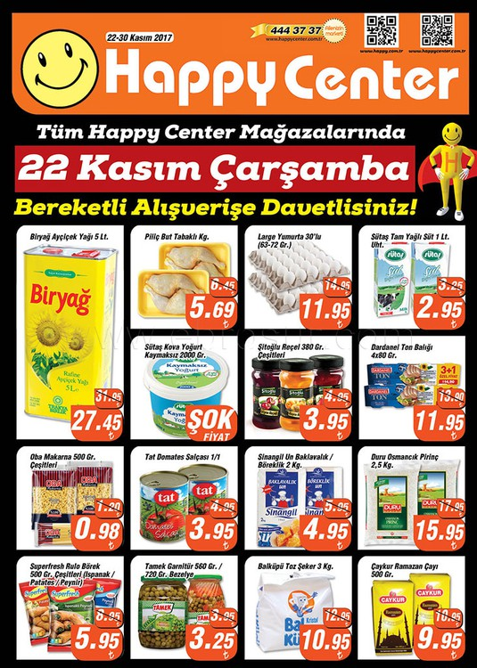 Happy Center 22 – 30 Kasım 2017 Kampanya Broşürü!
