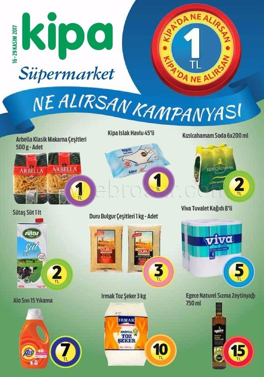 Kipa Market Ne alırsan 1 TL kampanyası