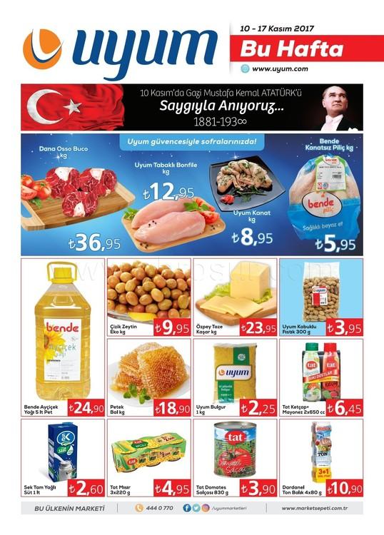 Uyum Market 10-17 Kasım 2017 Kampanya Broşürü