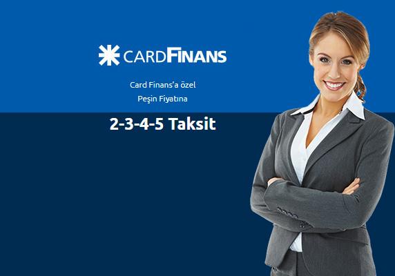 CardFinans kredi kartı ile peşin fiyatına 5 taksit